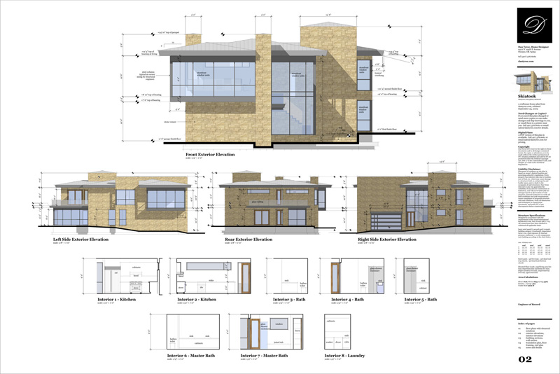 sketchup pro layout - architectuur plan 2