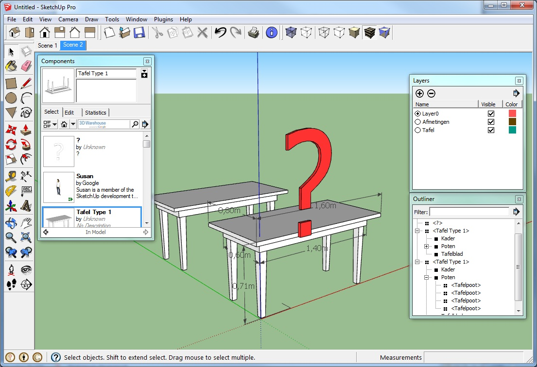 sketchup layers components groups 1