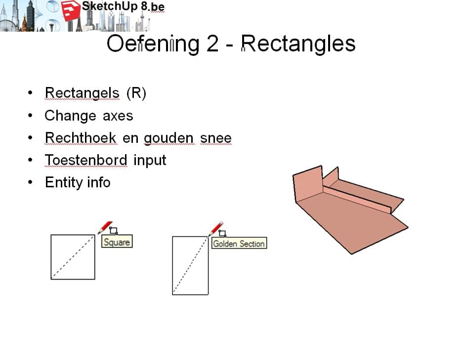 sketchup cursus training slide