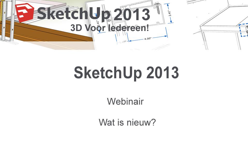 sketchup pro 2013 webinair