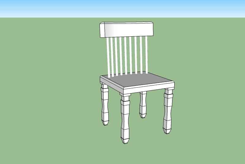 sketchup stoel modellen constructie