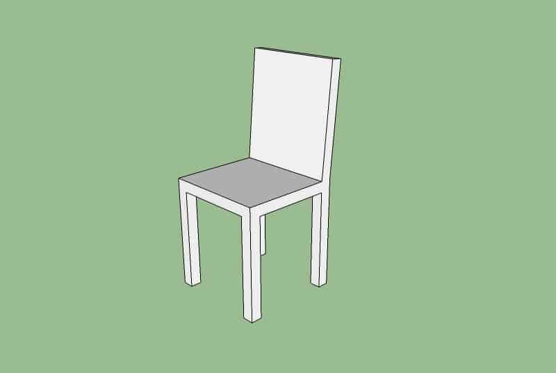 sketchup stoel modellen van een volume