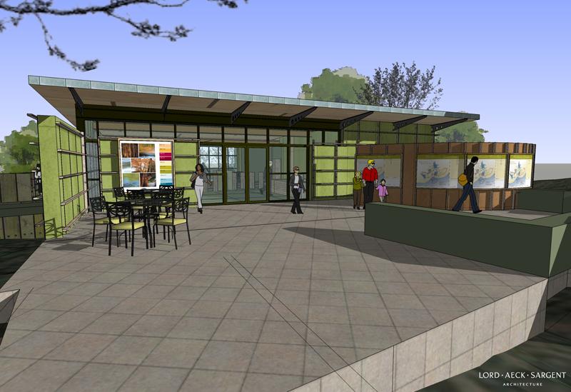 sketchup architectuur  natuurcenter 2