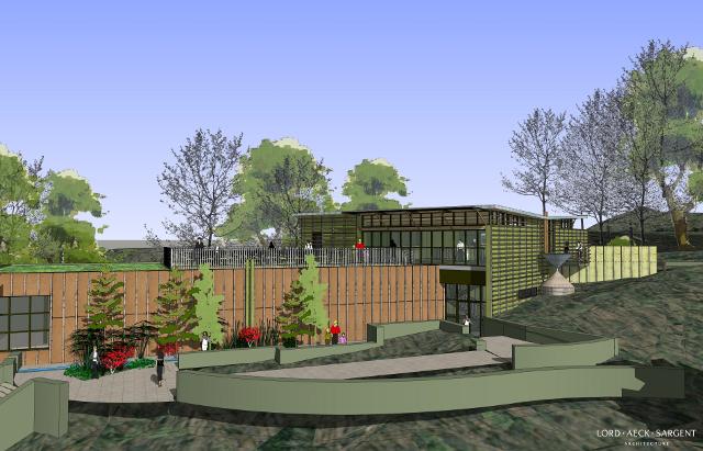 sketchup architectuur  natuurcenter