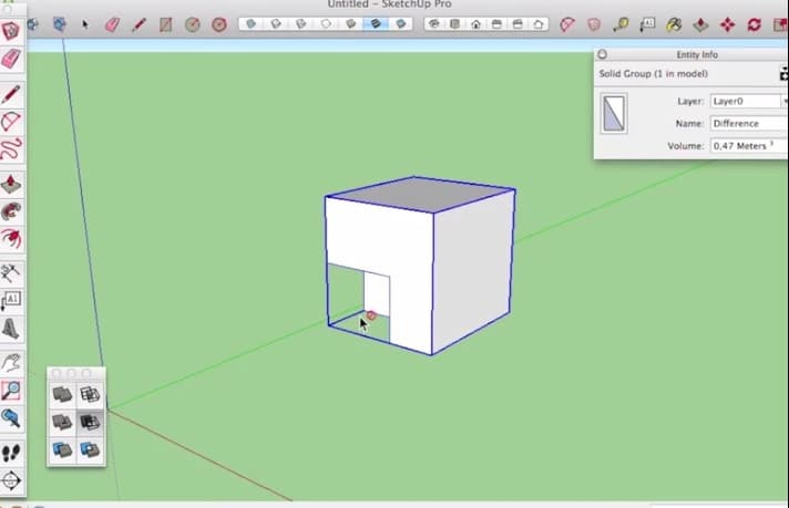 sketchup intersect with - solid tools