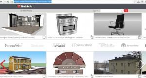 sketchup 3d warehouse interface