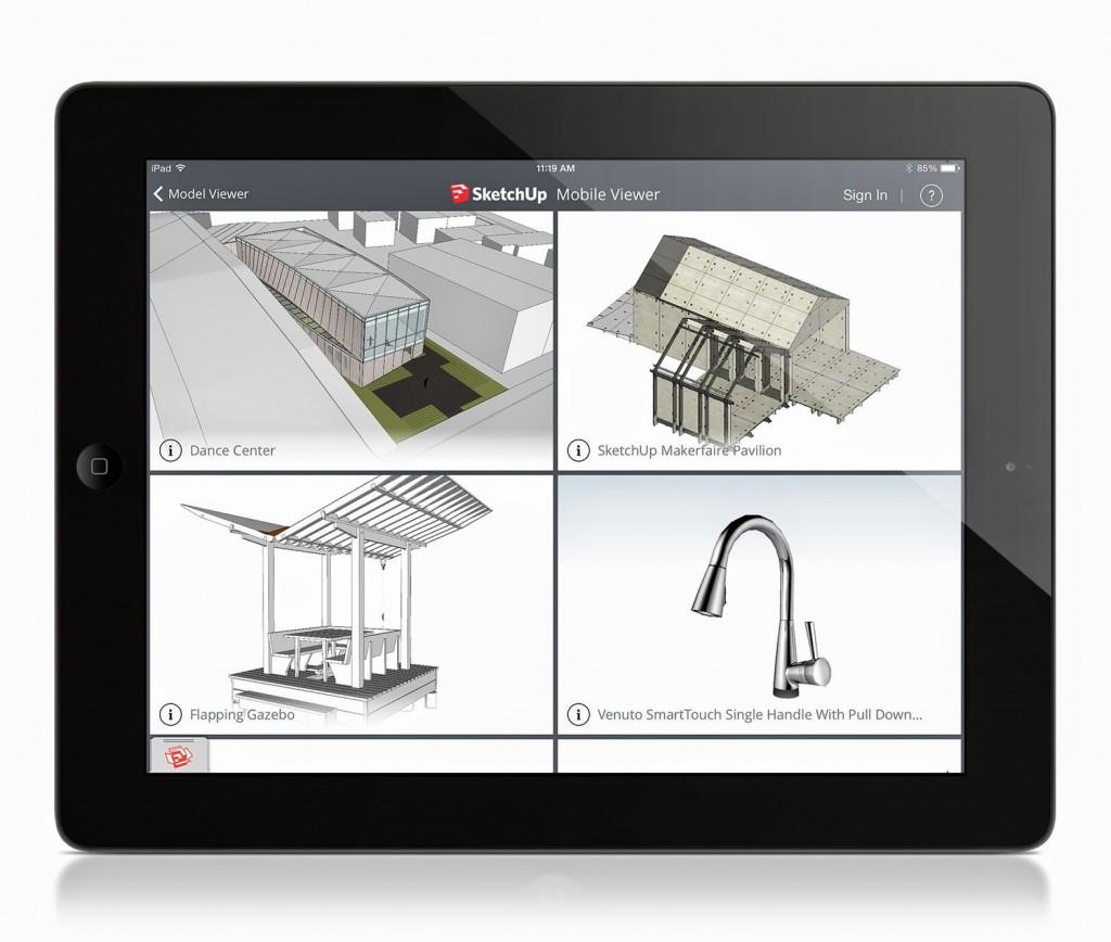 sketchup ipad viewer 3d warehouse