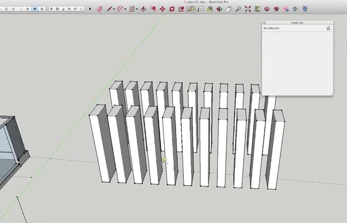 Sketchup Move Copy Gelijk Verdelen Over Afstand Met Sketchup