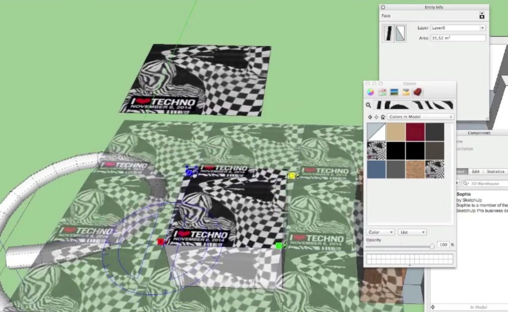 sketchup texture position control