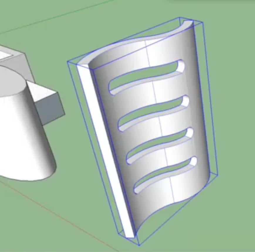 opening in gebogen object sketchup
