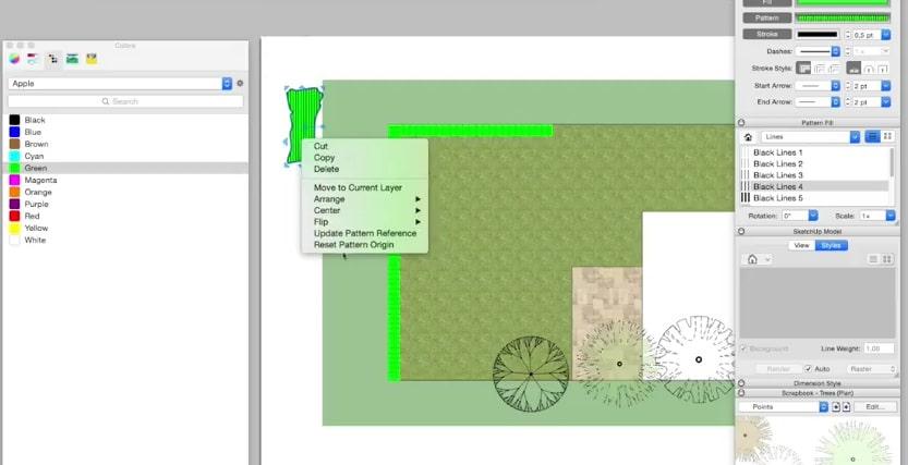 layout tuinplan opleuken sketchup