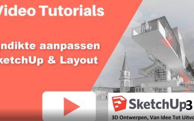 Hoe de lijndikte aanpassen in SketchUp en Layout?