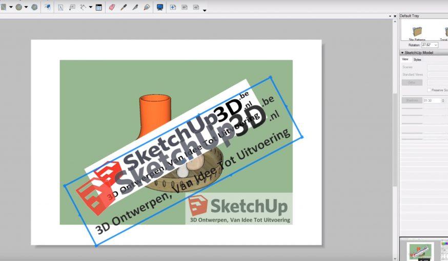 sketchup layout watermark