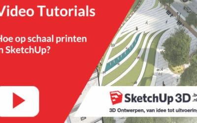 Hoe in SketchUp op schaal printen?