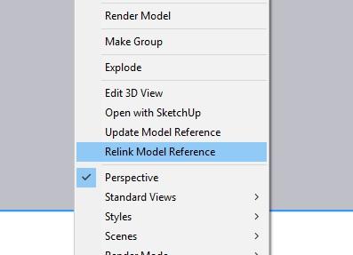 SketchUp 2020 layout relink
