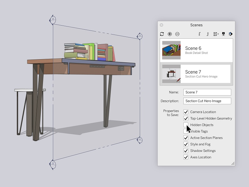 sketchup 2020 sections